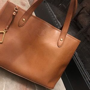 Ralph Lauren Brown Leather Tote